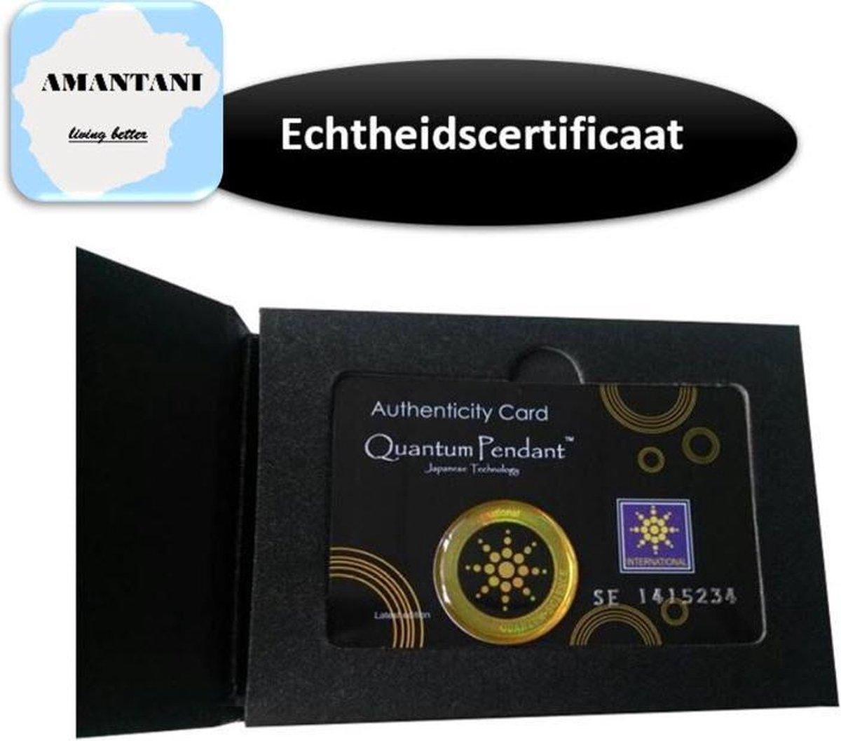 anti straling sticker - anti-straling sticker - anti straling sticker mobiele telefoon - anti radiation sticker - Inclusief Echtheidscertificaat - zilver