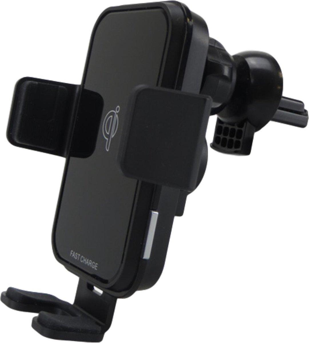 iSetchi Draadloze Oplader Auto met Smart Infrarood Sensor - Qi Autolader & Telefoonhouder - Automatische Telefoon Detectie Houder voor iPhone - Samsung - Huawei - Autohouder - Wireless Car Charger