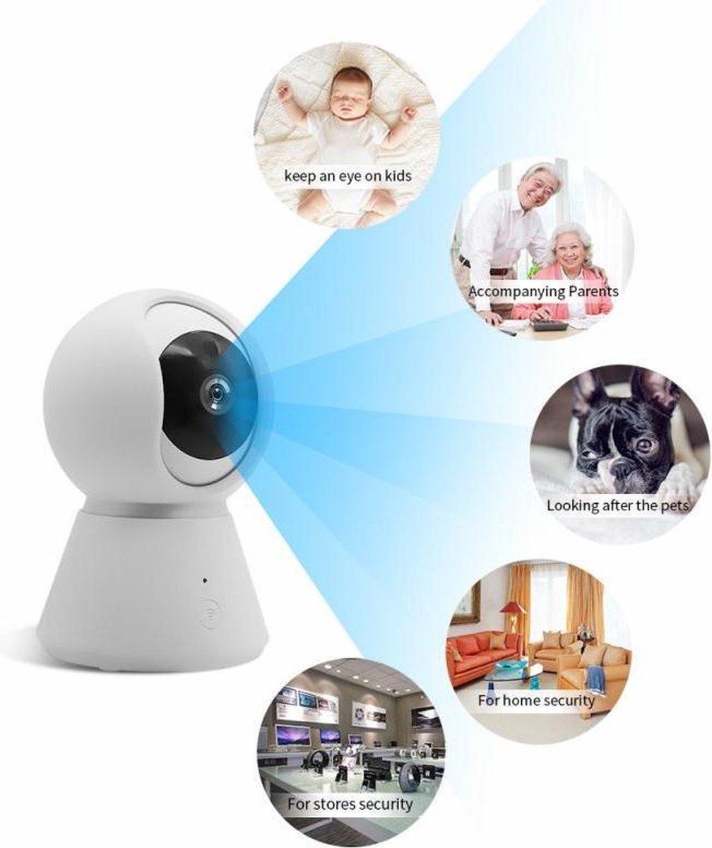 Babyfoon met camera en app - Haarscherp WiFi Security Camera - Huildetectie - video - beveiligingscamera met app - IOS android app besturing - communicatie - nachtvisie - bewakingscamera binnen- geluid en bewegingsdetectie