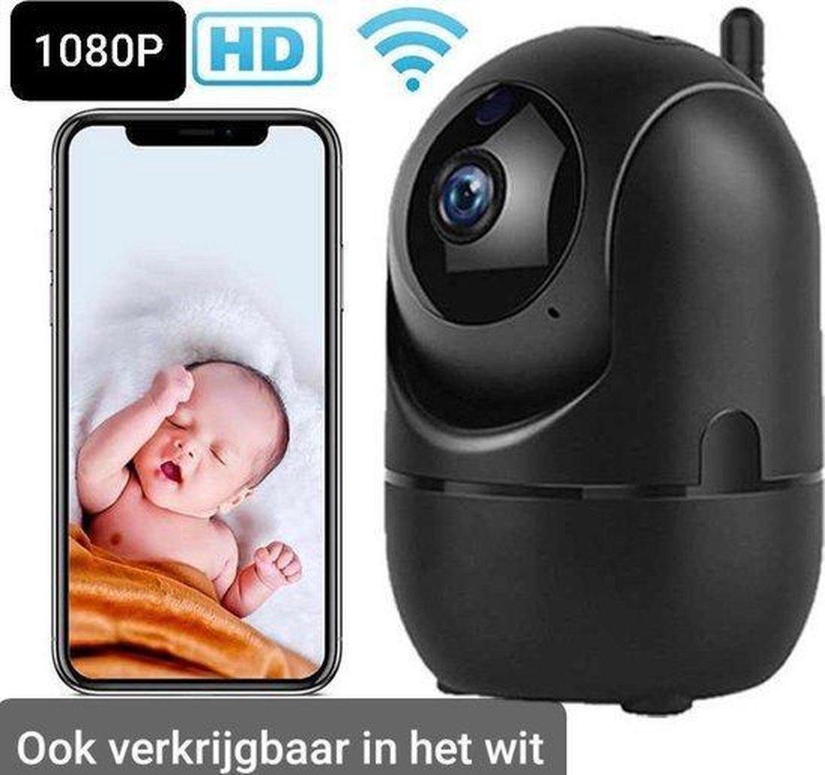 Babyfoon met camera zwart - Wifi Beveilingscamera zwart- Binnencamera Wifi -Babyfoon met Wifi -Camerabewaking-Tweezijdige Communicatie- Spraakfunctie -Nachtzicht- Onbeperkt bereik -HD Quality -1080P - Nederlandse Handleiding -Opslag in Cloud of SP