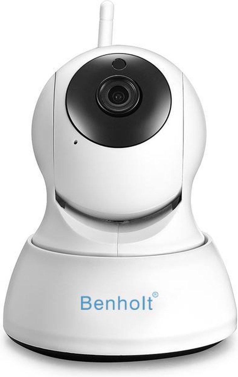 Benholt HD WiFi Babyfoon   Indoor Beveiligingscamera   2MP - Praatfunctie - IOS&Android APP